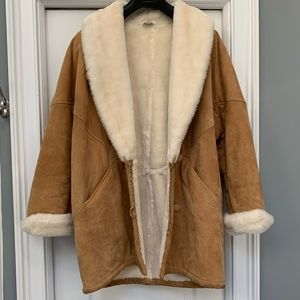 Beautiful and Warm Suede/Faux Fur Coat